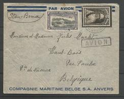 CONGO BELGE - Lettre Du 4-1-1935 - Par Avion De Stanleyville à Haut-Bois (Faulx-les-Tombes) - Congo Belge