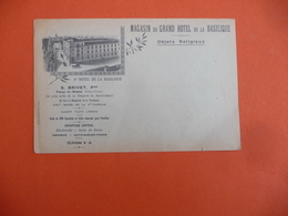 Enveloppe Magasin Du Grand Hôtel De La Basilique ( Paray Le Monial Saône Et Loire - Reclame