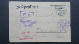 Carte Prisonnier Du Camp De Neisse II 1915 Camp De Représailles Pour Officier Censure Griffe Interprete Pour Ouistreham - Guerre De 1914-18