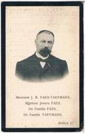 Dp. Faes Joannes. Echtg. Taeymans Francisca. ° Herenthout 1850 † Antwerpen 1910  (2 Scan's) - Religion & Esotérisme