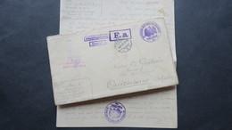 Lettre Prisonnier Du Camp De Neisse 1915 Camp De Représailles Pour Officier Censure Griffe Interprete Pour Ouistreham - Guerre De 1914-18