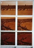 LOT DE 3 PLAQUES DE VERRE STEREO CORRIDA DE L UNION TAURINE ROUSSILLONNAISE - 13X6 CM - Plaques De Verre