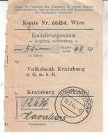 5278  --RADOVLJICA  EINLIEFERUNGSCHEIN 1944 - Slovenia