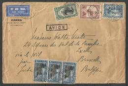 CONGO BELGE - Lettre Du 17-.-34 - De Stanleyville Vers Ixelles - Via Le Nil Par Juba (Djouba Soudan) - Congo Belge