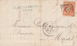 LETTRE. BORDEAUX. 40c N° 48. 20 AOUT 1871. GC 691 DE CAEN CALVADOS. 2° ECHELON POUR LE MANS - 1870 Emission De Bordeaux