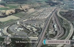 Mercury, MER638, CardEx   Locomotives, UK Terminal, Folkestone, Train, Unused, Only 2000 Issued, 2 Scans.   49MERTWOA/WC - Reino Unido
