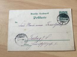 K8 Deutsches Reich Ganzsache Stationery Entier Postal P 36I Von Stralsund Nach Freiberg - Ganzsachen