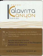 GREECE - Kalavrita Kanyon(dark Brown Reverse), Hotel Keycard, Used - Cartes D'hotel