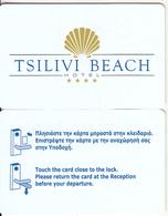 GREECE - Tsilivi Beach, Hotel Keycard, Used - Cartes D'hotel