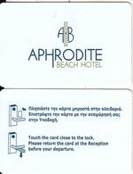 GREECE - Aphrodite Beach, Hotel Keycard, Used - Cartes D'hotel