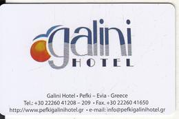 GREECE - Galini, Hotel Keycard, Used - Cartes D'hotel