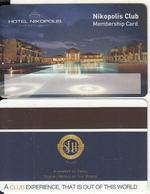 GREECE - Hotel Nikopolis, Member Card, Unused - Cartes D'hotel