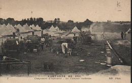 CAMPAGNE DE 1914 - CAMPEMENT D'INFANTERIE : LES CUISINES ROULANTES - Guerre 1914-18