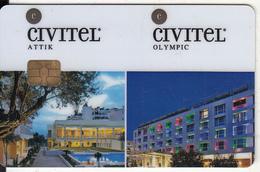"GREECE(chip) - Civitel(reverse Saint""s), Hotel Keycard, Used - Cartes D'hotel"