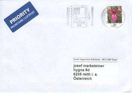 Auslands - Brief Von Briefzentrum Hamburg Süd Mit 110 Cent Blumen 2020 - BRD