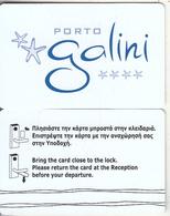 GREECE - Porto Galini(reverse 1), Hotel Keycard, Used - Cartes D'hotel