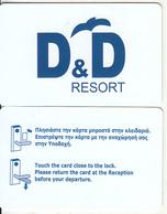 GREECE - D&D Resort, Hotel Keycard, Used - Cartes D'hotel