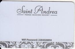 GREECE - Saint Andrea, Hotel Keycard, Used - Cartes D'hotel
