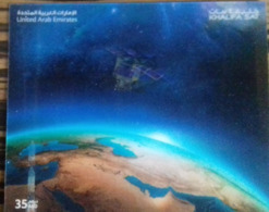 UAE ,2019, MNH, SPACE, FIRST ARAB SATELLITE,  SPECIAL 3D  S/SHEET, ONLY 4000 PRINTED - Asia