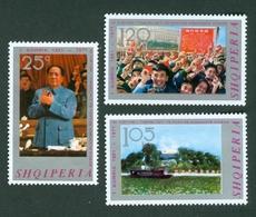 Albania 1971 China KP Mao Zedong Ce Tung 50th Anniversary Michel 1489 - 1491 - Albania