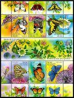 Israele / Israel 2011: Foglietto Farfalle / Butterflies S/S ** - Farfalle