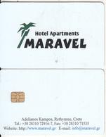 GREECE(chip) - Maravel, Hotel Keycard, Used - Cartes D'hotel