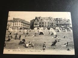96 - MERS LES BAINS La Plage Et Les Villas - 1928 Timbrée - Mers Les Bains