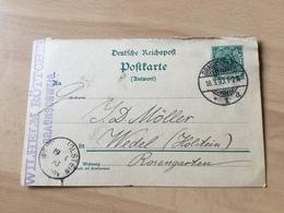 K8 Deutsches Reich Ganzsache Stationery Entier Postal P 31Aa Von Braunschweig Nach Wedel - Germania