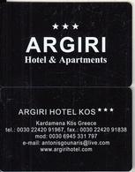 GREECE - Argiri, Hotel Keycard, Used - Cartes D'hotel