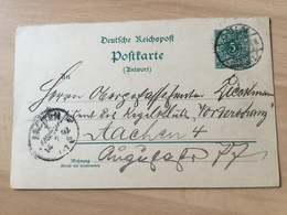 K8 Deutsches Reich Ganzsache Stationery Entier Postal P 31Aa Von Köln Nach Aachen - Germany