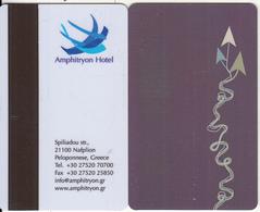 GREECE - Amphitryon(brown Strip), Hotel Keycard, Used - Cartes D'hotel