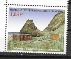 TAAF ,  FRENCH ANTARCTIC, 2020, MNH,LANDSCAPES, AMSTERDAM, CABINS, 1v - Filatelia Polar