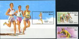 Belgium, Olympic 1988, 2 Stamps + Block - Zomer 1988: Seoel