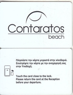 GREECE - Contaratos, Hotel Keycard, Used - Cartes D'hotel