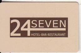 GREECE - 24 Seven, Hotel Keycard, Used - Hotelsleutels (kaarten)