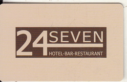 GREECE - 24 Seven, Hotel Keycard, Used - Cartes D'hotel