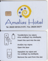 GREECE(chip) - Amalias, Hotel Keycard, Used - Cartes D'hotel