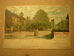 HOSEL - RESTAURATION ZUR STATION HOSEL - J.W. OBERSCHEIDT - LITHO 1901 - Andere