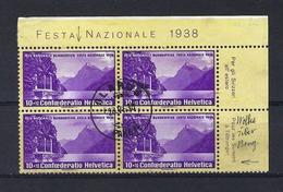 SUISSE 1938:   Le  ZNr. B1y,  Bloc De 4 Oblitérés,  CDF    TB - Pro Patria