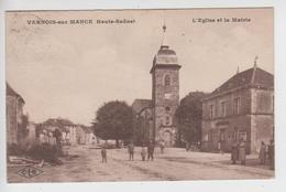 CPA Vernois-sur-Mance - L'église Et La Mairie (avec Animation) - Other Municipalities