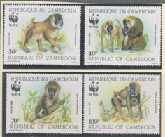 WILDLIFE - CAMEROUN - 1988-  WWF DRILL BABOON  SET OF  4 MINT NEVER HINGED - W.W.F.