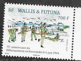 WALLIS ET FUTUNA,  2019, MNH,WWII, NORMANDY INVASION, PLANES, SHIPS,1v - Guerre Mondiale (Seconde)