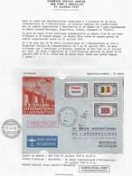Aérophilatélie - USA - Lettre 21/07/1947 New-York/Bruxelles - Courrier Spécial Aérien - Salon Aéronautique - Poste Aérienne