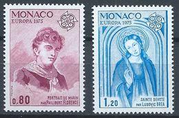 Monaco YT 1003-1004 XX / MNH Europa 1975 - Mónaco