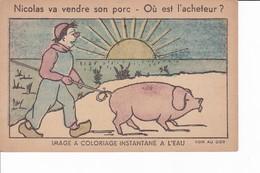 Lot 2 Images(9/14cm) Dessins Pour Enfants-Dos Pub Pour Le Produit TIP Pour Tartine Et Cuisine - Other