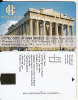 GREECE - Acropolis, Cecil, Hotel Keycard, Sample(no Chip) - Hotelsleutels (kaarten)