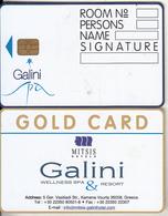 GREECE(chip) - Mitsis Hotels/Galini, Hotel Keycard, Used - Cartes D'hotel