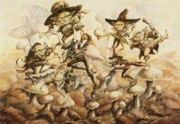 C P Champignon, Pilz, Mushroom, Illustrateur Pascal Moguèrou - Pilze