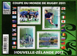 France Oblitération Cachet à Date BF N° F 4576 - Sport - RUGBY - Coupe Du Monde 2011 - Blocks & Kleinbögen