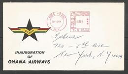 Aérophilatélie - USA -  Lettre 02/09/64 - Inauguration Ghana Airways - Poste Aérienne